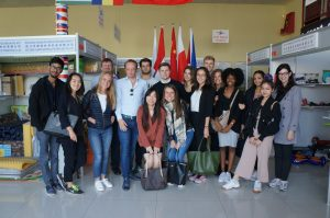 AMS MCEB students at EC-EU direct sales platform in Budapest
