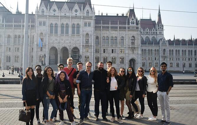 MCEB Students at Budapest Parliament-Yogesh Aggrawal