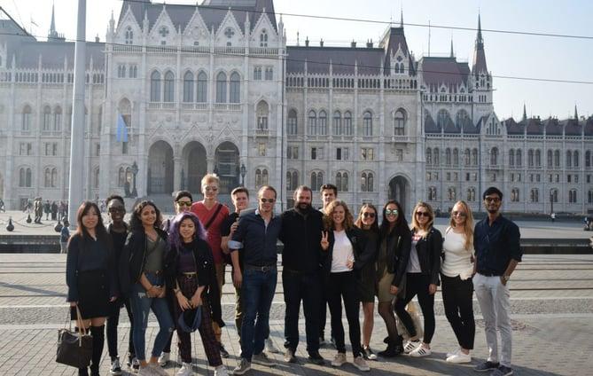 MCEB Students at Budapest Parliament-Yogesh Aggrawal